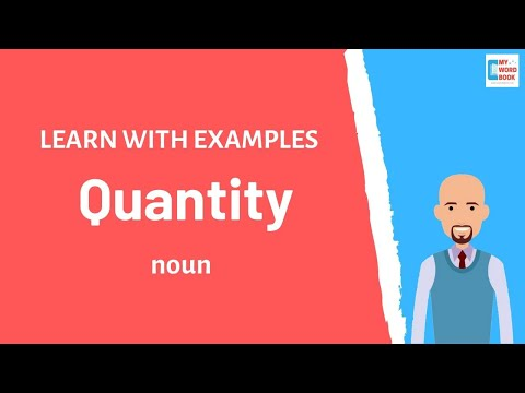 Quantity | Meaning with examples | Learn English | My Word Book