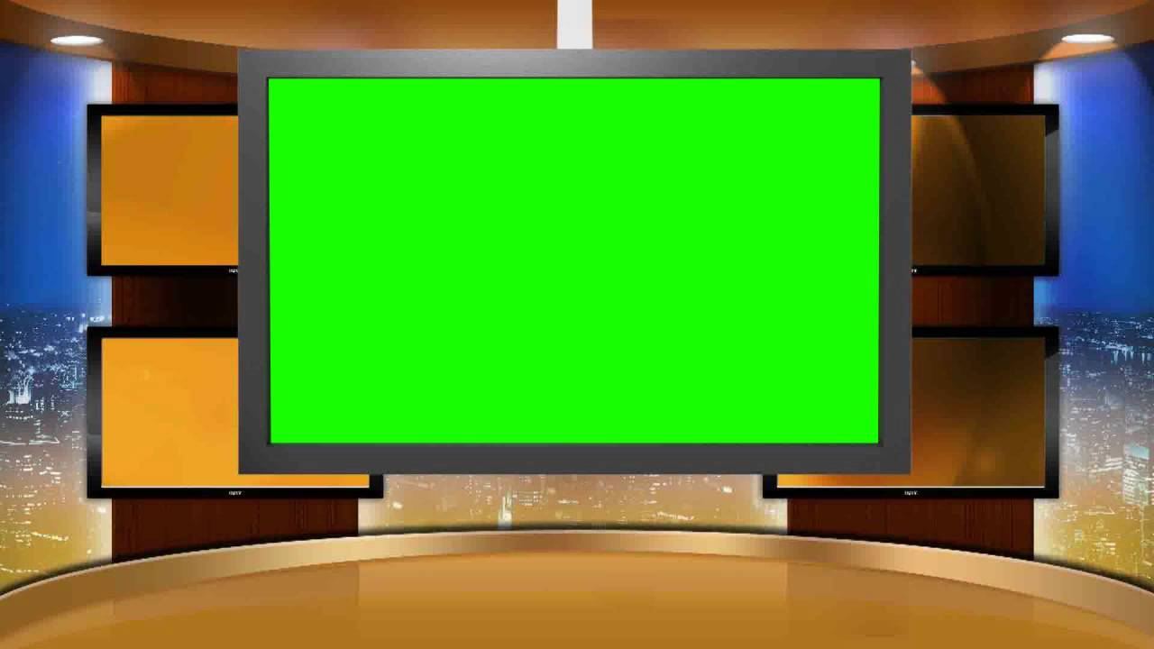 Studio Background Set In Green Screen Free Stock Footage