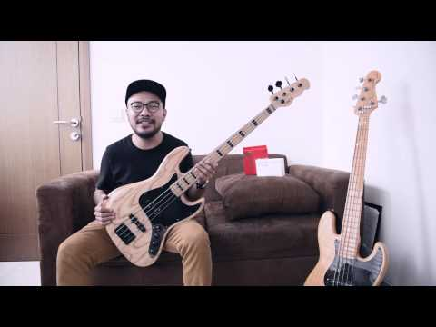 Indonesian Bass Channel - NATS deluxe jb equipped with Haussel pickups and RCocco strings