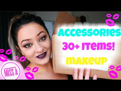 MASSIVE Shop Miss A Haul & Try On | $1 only items | Makeup & Accessories