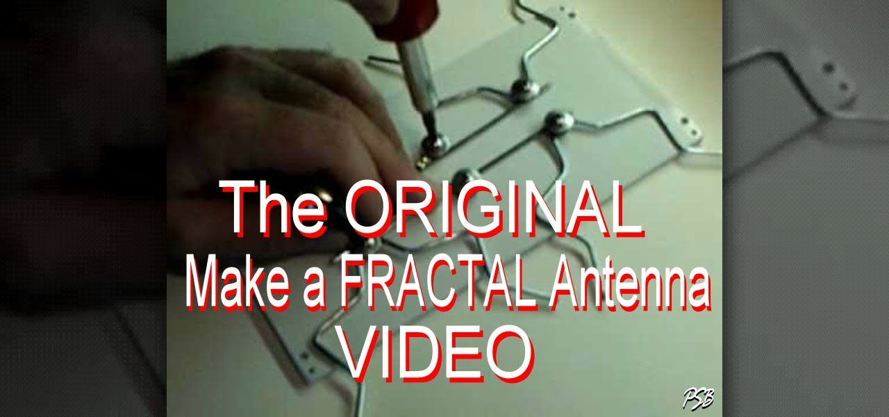 graphic about Printable Fractal Antenna Pattern identified as How in the direction of Produce a do-it-yourself fractal antenna for High definition and electronic Tv set