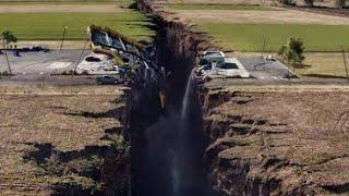 عااجل اقوي الزلازل بالصوت والصورة مشهد مروع |انشقاق الارض وسقوط الابراج ||