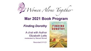 Mar 2021 Book Program - Finding Dorothy