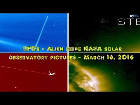 UFOs - Alien ships NASA solar observatory pictures - March 16, 2016
