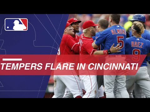 Tempers flare after Garrett strikes out Baez