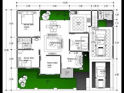 Denah Rumah Minimalis 1 Lantai 3 Kamar Denah Rumah Minimalis 3