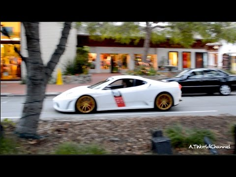 INSANELY LOUD Ferrari F430 Straight Pipe F1 Exhaust Sound! Acceleration & Downshifts