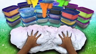 Giant Slime Collection! Slime How To /  ASMR Slime DIY / Slime Haul