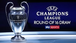 LIVE! CHAMPIONS LEAGUE ROUND OF 16 DRAW 🏆