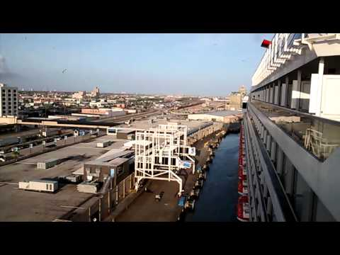 Carnival Freedom Docking At Port Galveston