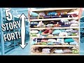 5 STORY PILLOW FORT!