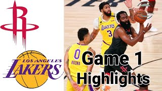 Rockets Vs Lakers HIGHLIGHTS Halftime   NBA Playoff Game 1