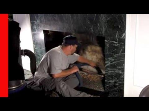 fireplace veneer over brick