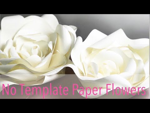 Making Paper Flowers with NO TEMPLATE | How To