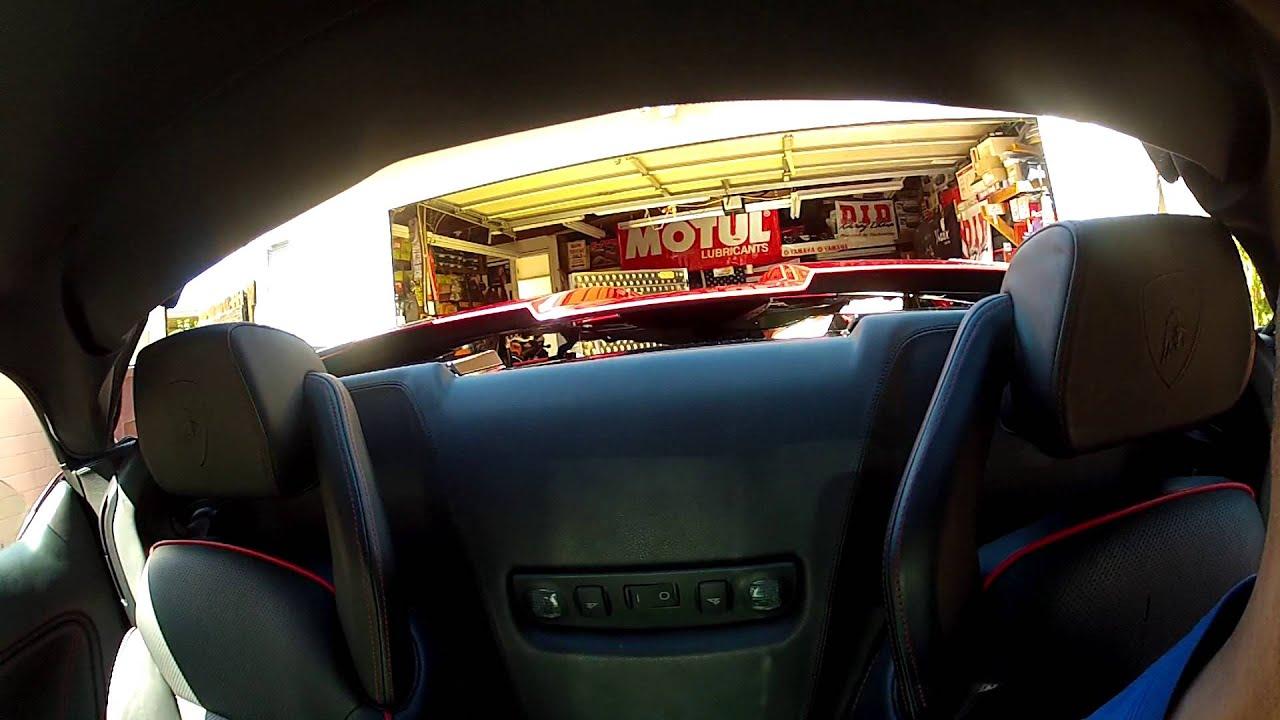 Alex Lamborghini Gallardo Spyder Engine Bay Opening Youtube