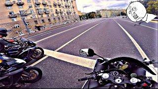 Безумная езда на мотоциклах 4к || Crazy ride on YZF-R1