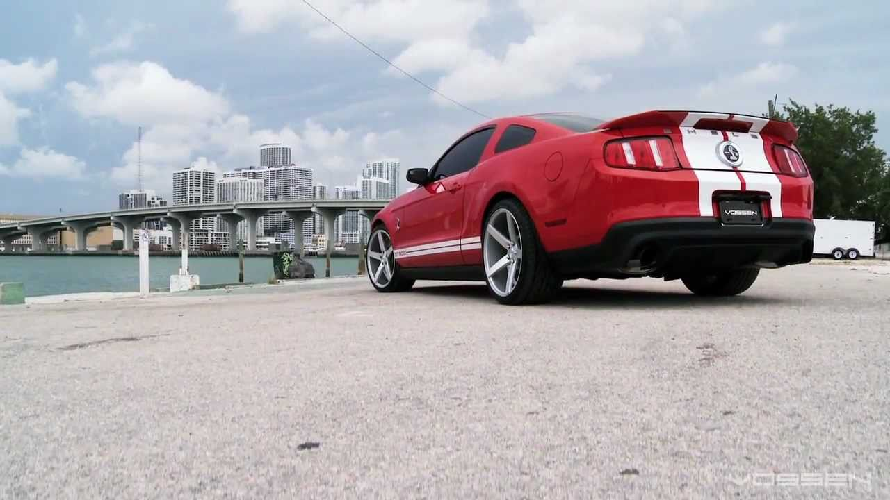 "Ford Mustang Shelby GT500 on 20"" Vossen VVS-CV3 Concave ..."