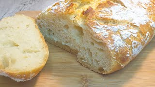 Хлеб 3 СТАКАНА Без ЗАМЕСА Вы перестанете покупать ХЛЕБ в магазине Простой рецепт хлеба