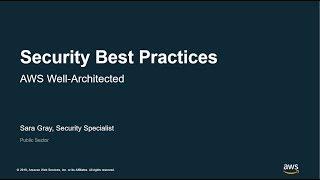 Security Best Practices - AWS Virtual Workshop