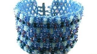 Netting Tutorial - Crystal Embellished Cuff