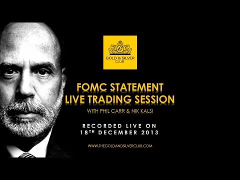 The Gold & Silver Club | Gold Silver Trading | 075 – FOMC Statement Live Trading Session