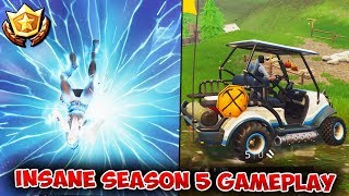 INSANE SEASON 5 GAMEPLAY | Fortnite Rift/TELEPORTER + NEW ALL TERRAIN KART! - TIER 100 BATTLE PASS