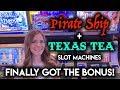 First BONUS On Pirate Ship GREAT RUN On Texas Tea Slot Machine mp3