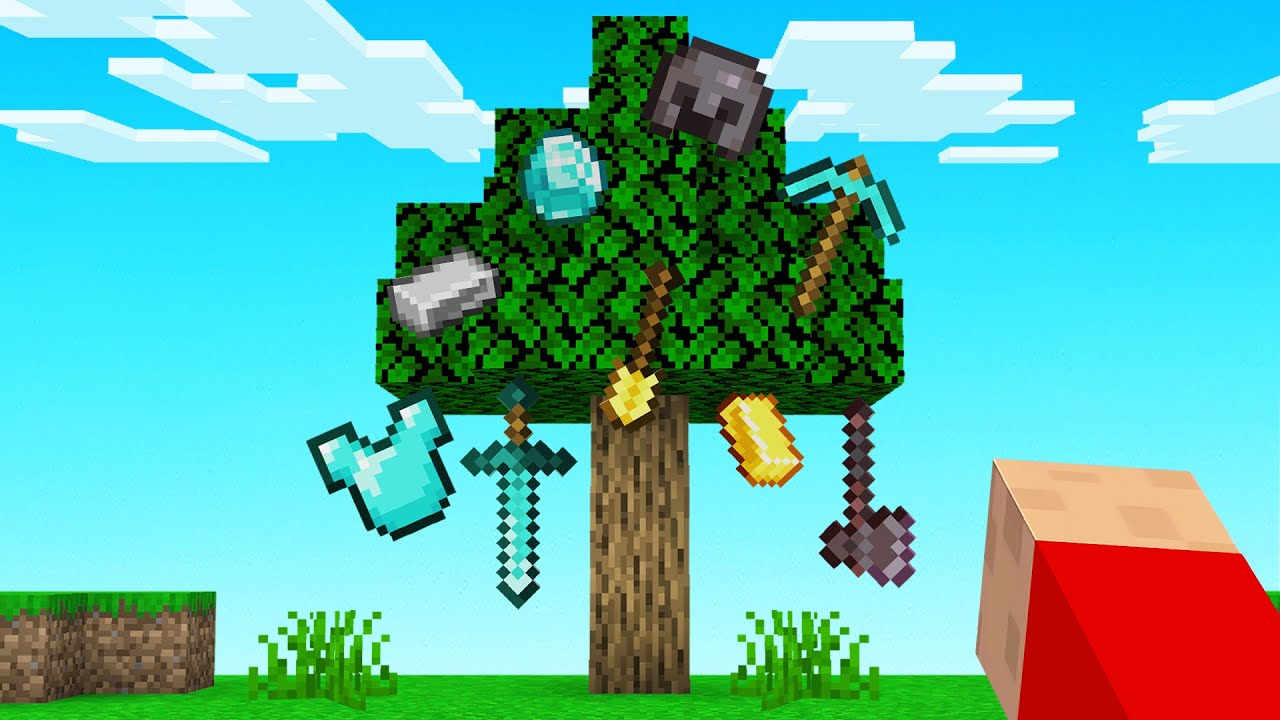 Download Minecraft But OP ITEMS Grow ON TREES!