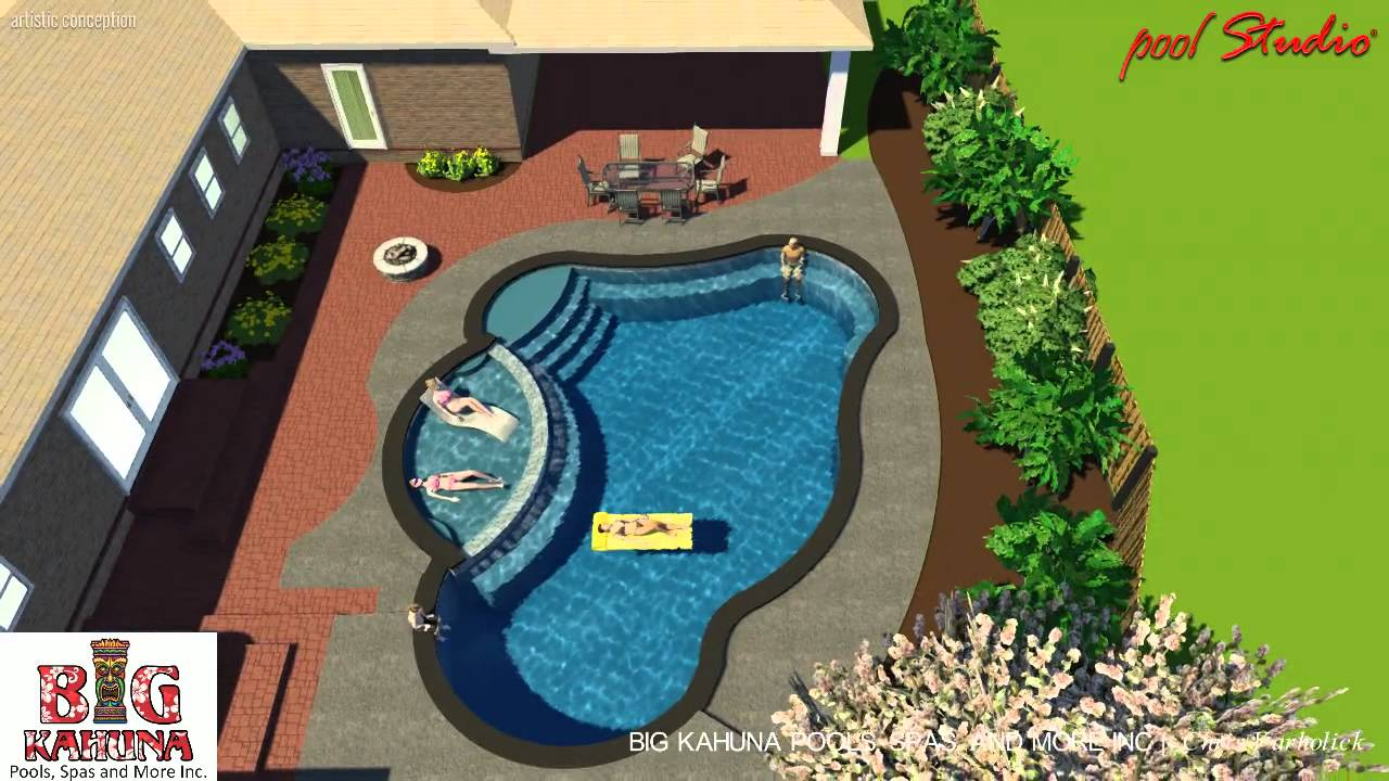 Morehead City Residential Pool, Elevated Tanning Ledge