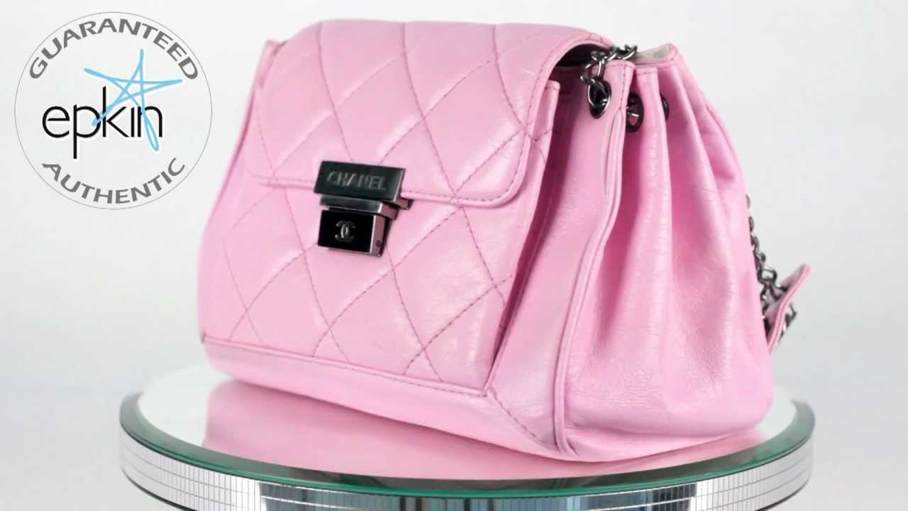 01e25ead2c9c Chanel Quilted Leather Pink Accordion Flap Handbag Shoulder Bag Authentic  Tote