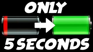 FULLY CHARGE YOUR PHONE IN 5 SECONDS (CRAZY LIFE TIPS)