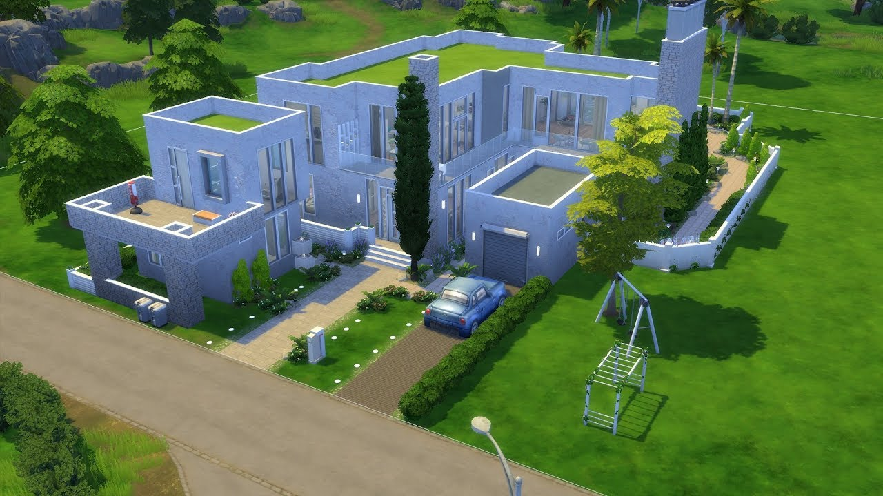 The Sims 4: Speed Build // Huge Amazing Modern House for ...