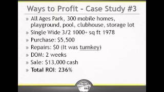 What Types Of Returns Should I Expect With Mobile Home Investing?