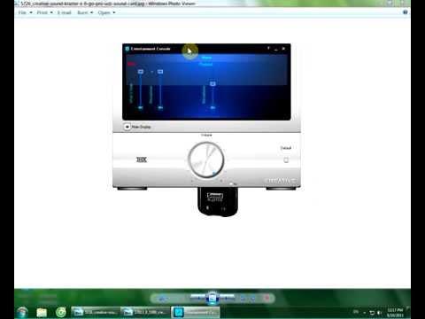 Hướng dẫn chỉnh sound card usb 2.1  X-Fi Go! Pro ( SB1290)(SB 1295)