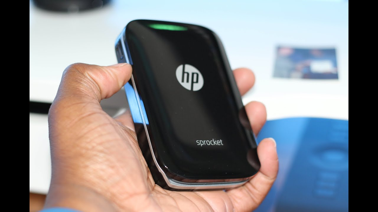 Hp Sprocket 100 Prints Photos From Your Smartphone Youtube Ink Free Mobile Photo Printer Technology