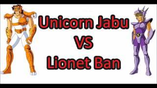 Cavalieri dello zodiaco - Saint Seiya 1vs1 - Unicorn Jabu VS Lionet Ban  -  ITA