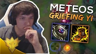 Meteos Plays with a GRIEFING MASTER YI - Meteos Stream Highlights & Funny Moments