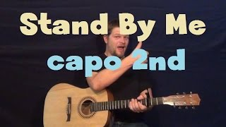 Stand By Me (Ben E King) Easy Guitar Strum Capo 2nd Fret How to Play Tutorial G Em C D