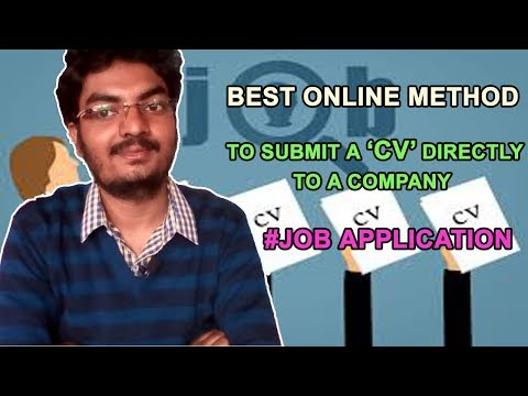 Best Online Method To Submit A CV Directly To A Company || Job Application