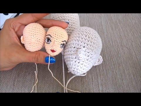 How to crochet slim doll leg / pretty doll crochet / doll body ... | 360x480