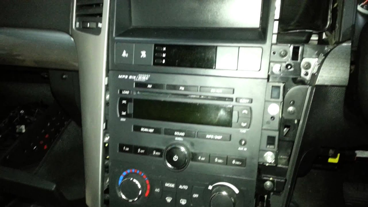 how to remove a radio from a holden captiva 2007 model