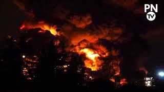 Enorme incendie à Rouen sur le site de Lubrizol