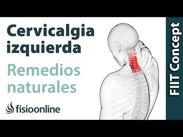 dolor cuello lado izquierdo delantero
