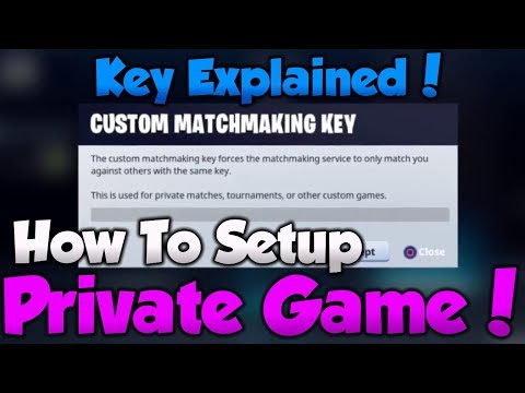 how to make custom matchmaking fortnite pc