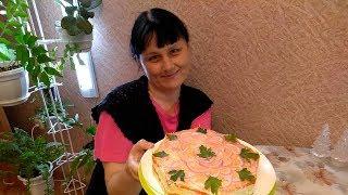 Салат с соленой форелью