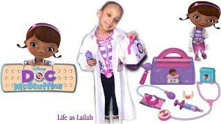Doc Lailah | Doctor Visit For Moana & Elsa | Doc McStuffins Play Set
