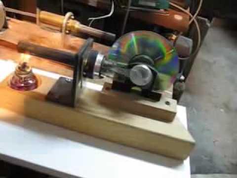 Stirlingengine A Single Piston Stirling Engine Youtube