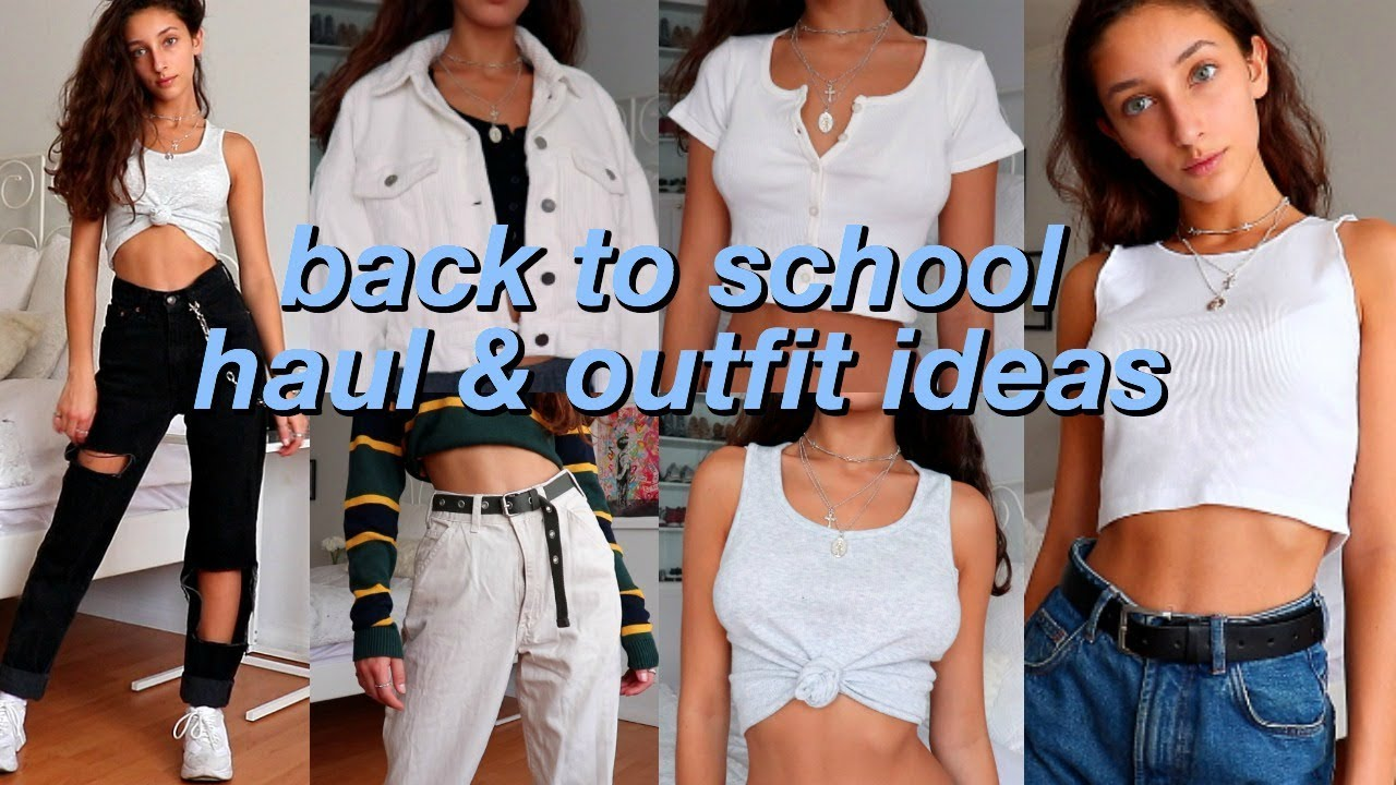 BACK TO SCHOOL: TRY-ON HAUL & OUTFIT IDEAS! 2
