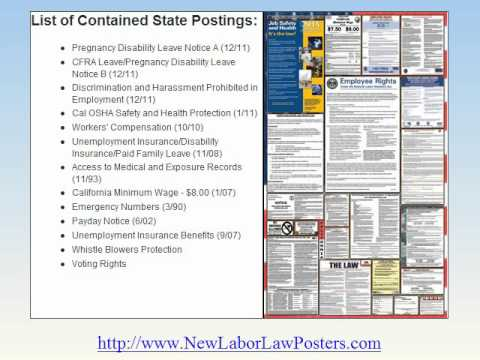 2012 California Labor Law Posters http://FederalAndStateLaborLawPosters