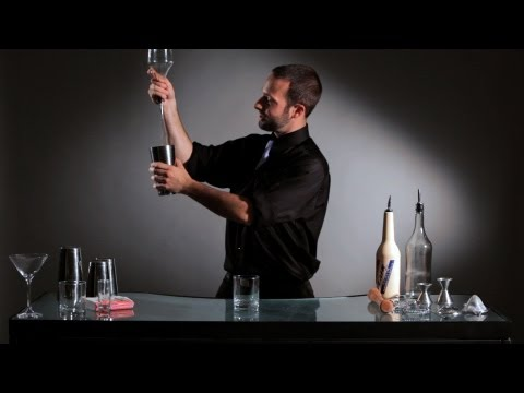 How to Do a Flip to Pour Bottle Trick | Flair Bartending